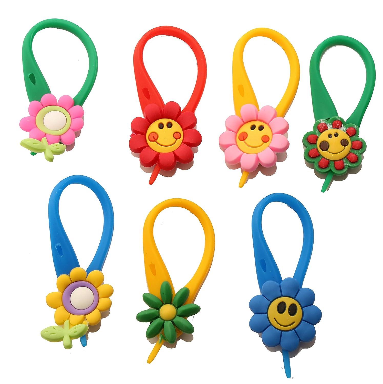 AVIRGO 7 piezas Small Flowers # 1 Colorido Soft Zipper Pull Cremalleras Adornos para Cazadoras Bolsas Cremalleras Set # 45 - 4: Amazon.es: Juguetes y juegos