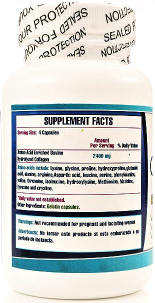 Set DE 2 frascos. Enriquecido con aminoacidos. para la piel, articulaciones y huesos. 120 capsulas CADA Frasco.Tratamiento completo de alta potencia.