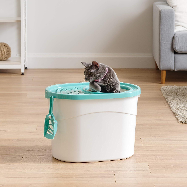 Amazon.com: Caja de arena higiénica para gatos IRIS Top ...