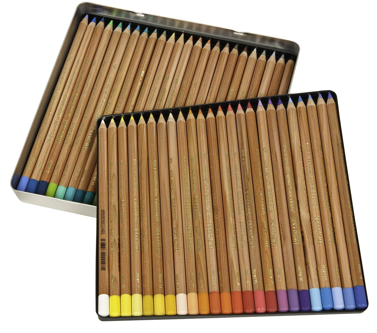 Koh-I-Noor Gioconda Soft Pastel Pencil Set, 48/Each Packed in Tin, Assorted Colored Pencils (FA8828.48)