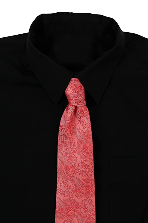 Corbata prémium, 100 % de seda, de color negro, azul marino, rosa ...