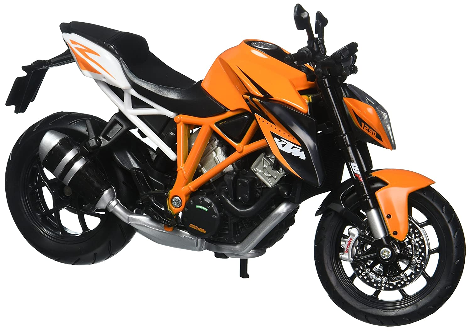 Buy maisto ktm 1290 112 scale duke r bike black and orange online at low prices in india amazon in