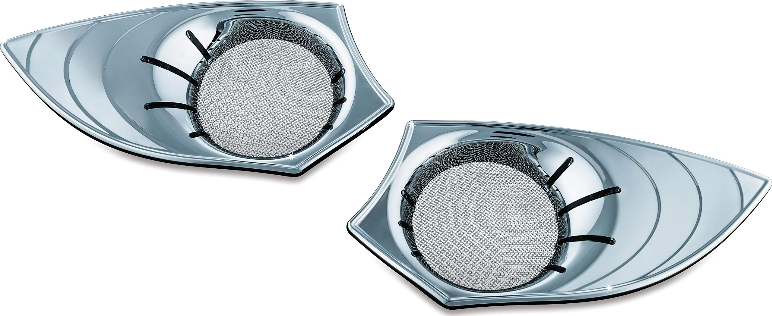 Kuryakyn 7698 Motorcycle Accent Accessory: LED Speaker Grills for 2010-17 Victory Motorcycles, Chrome, 1 Pair by Kuryakyn