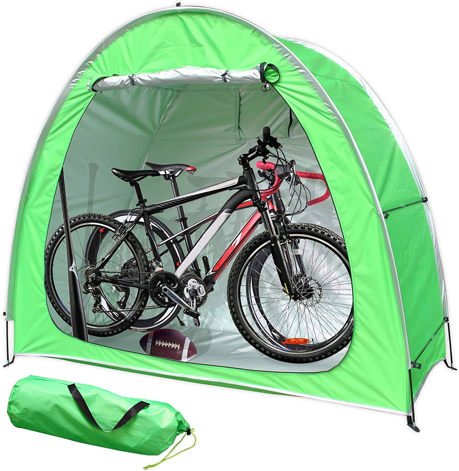 MAIZOA Bicycle Cover Storage Tent, Portable Foldable Tent, Upgraded 210D Silver Coated Oxford Cloth,Outdoor Garden Storage shed, Can be Placed Tricycle, Motorcycle