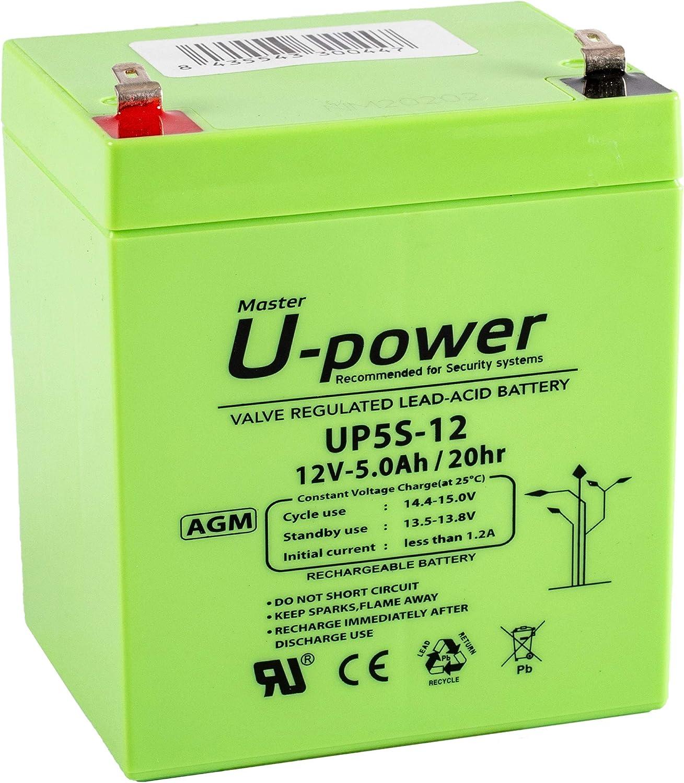 Bateria Plomo AGM UP 5Ah 12V SEGURIDAD