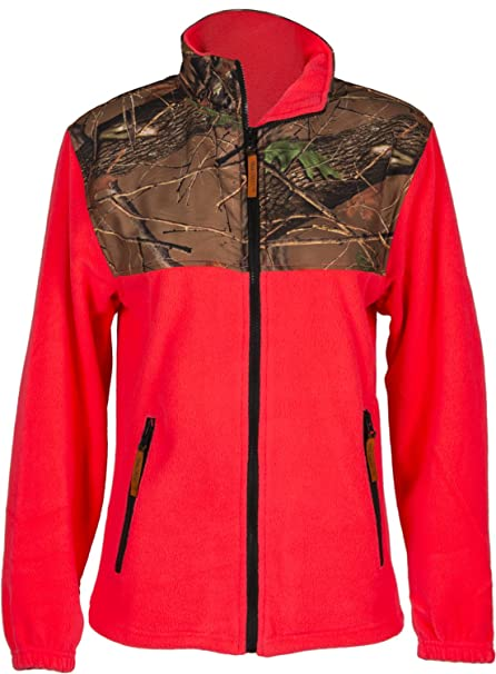 a1be1813e54f9 Amazon.com  Trailcrest Women s Camo Fleece Full Zip C-max Wind ...