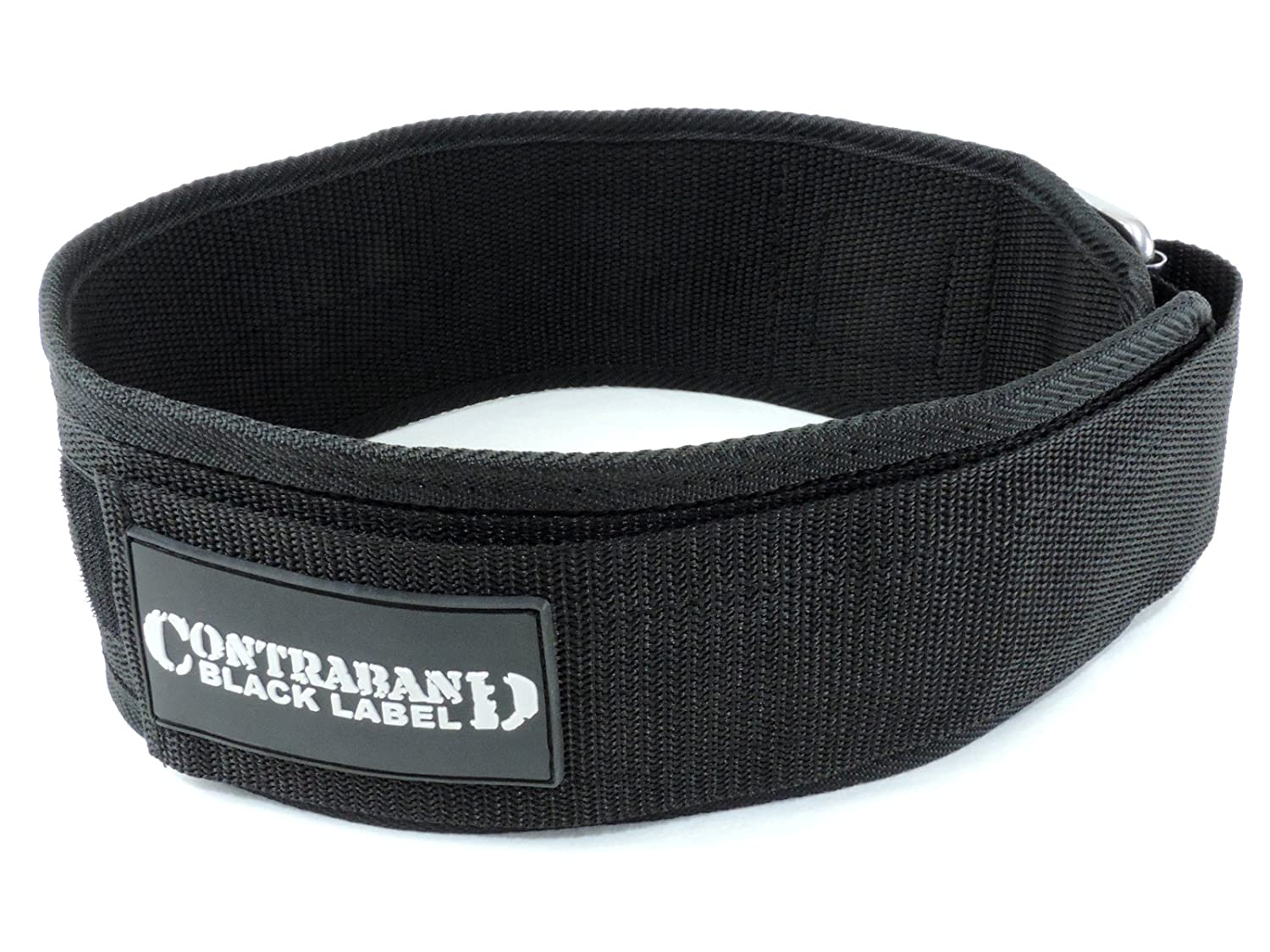 Contraband Black Label 4010 4inch Nylon Weight Lifting Belt w Hook Loop – Perfect Heavy Duty Back Support for Weightlifting Bodybuilding Powerlifting – Men Women