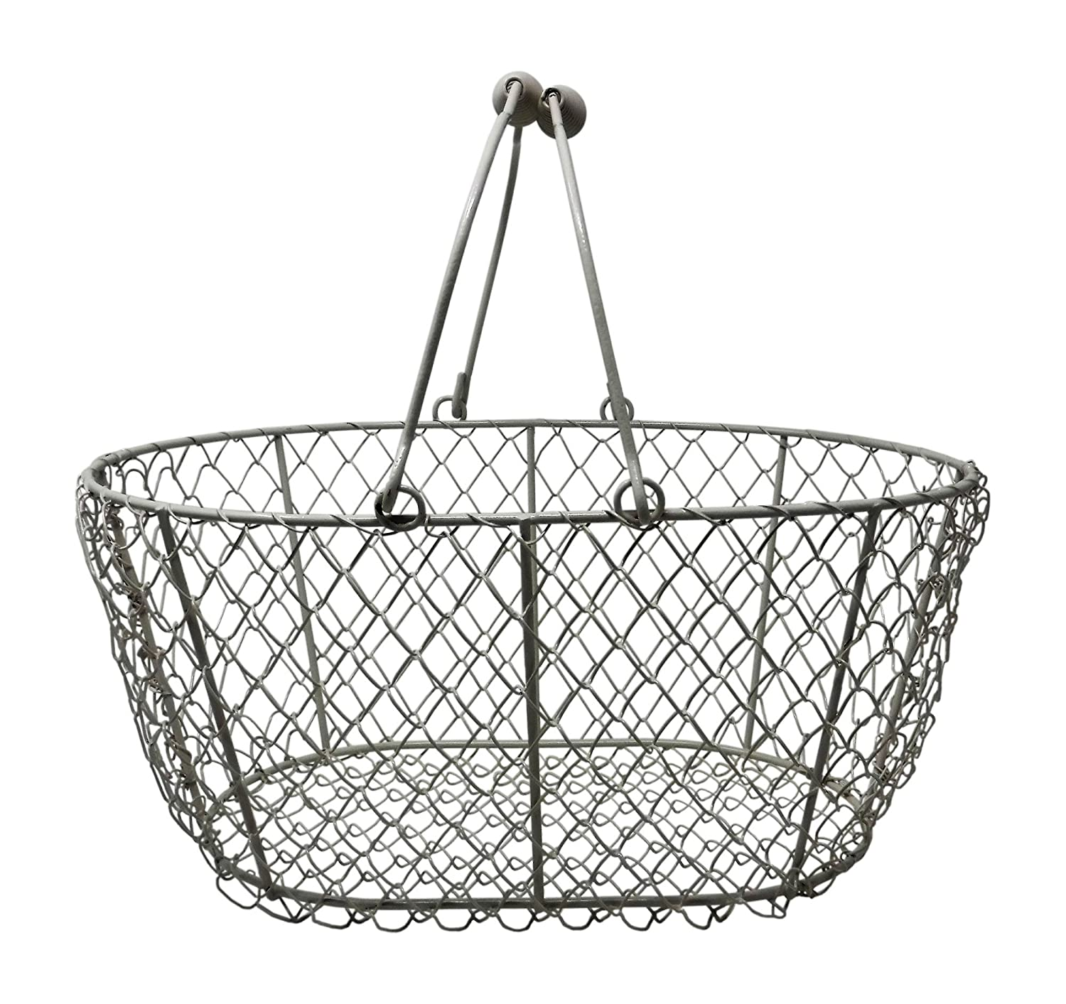 Amazon.com : Wire Egg Basket, Chicken Egg Gathering Basket, Vintage ...