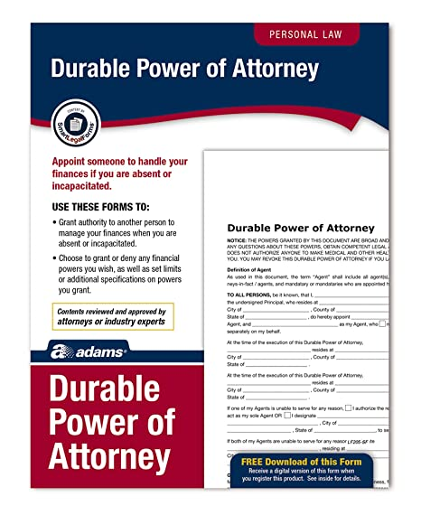 amazoncom adams durable power of attorney forms and instructions lf205 legal forms office products