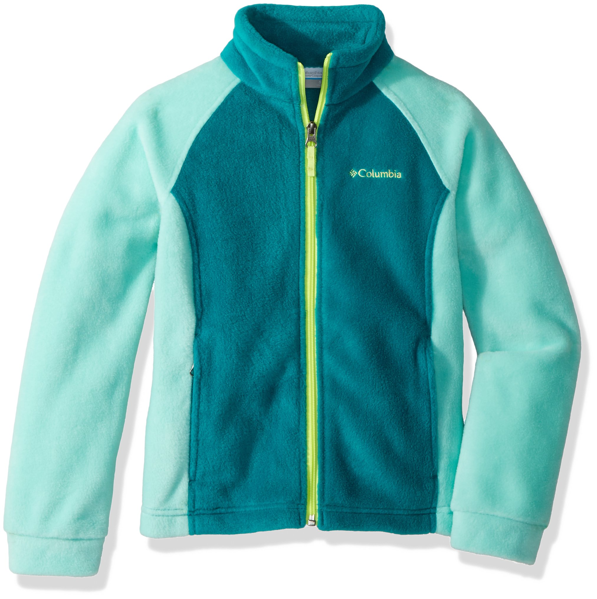 Columbia Girls' Big Benton Springs Fleece, Emerald/Pixie Medium