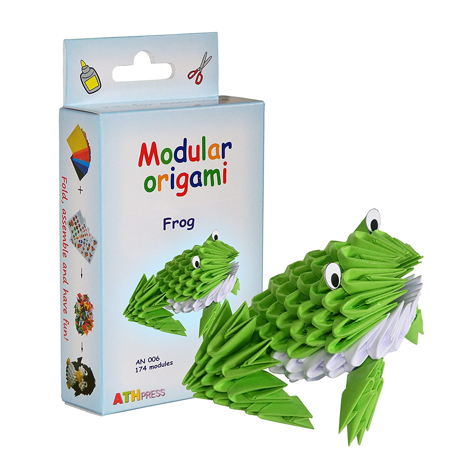 Modular Origami Kit-Frog ATH Press Ltd. AN 006