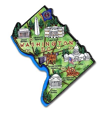 ARTWOOD MAGNET - WASHINGTON, DC MAP