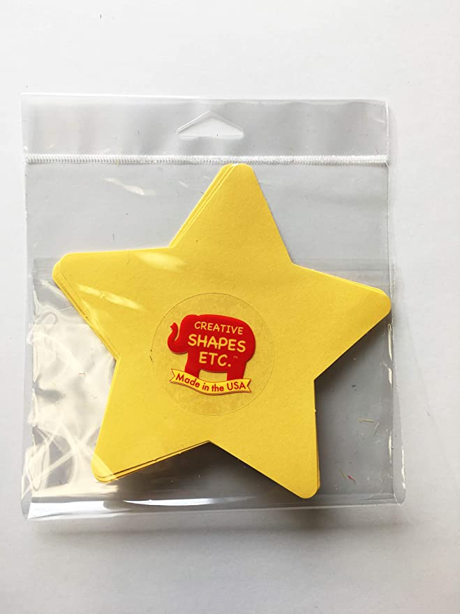 31 Star Cutouts to a Package 3 x 3 Star Small Assorted Color Creative Cut-Outs