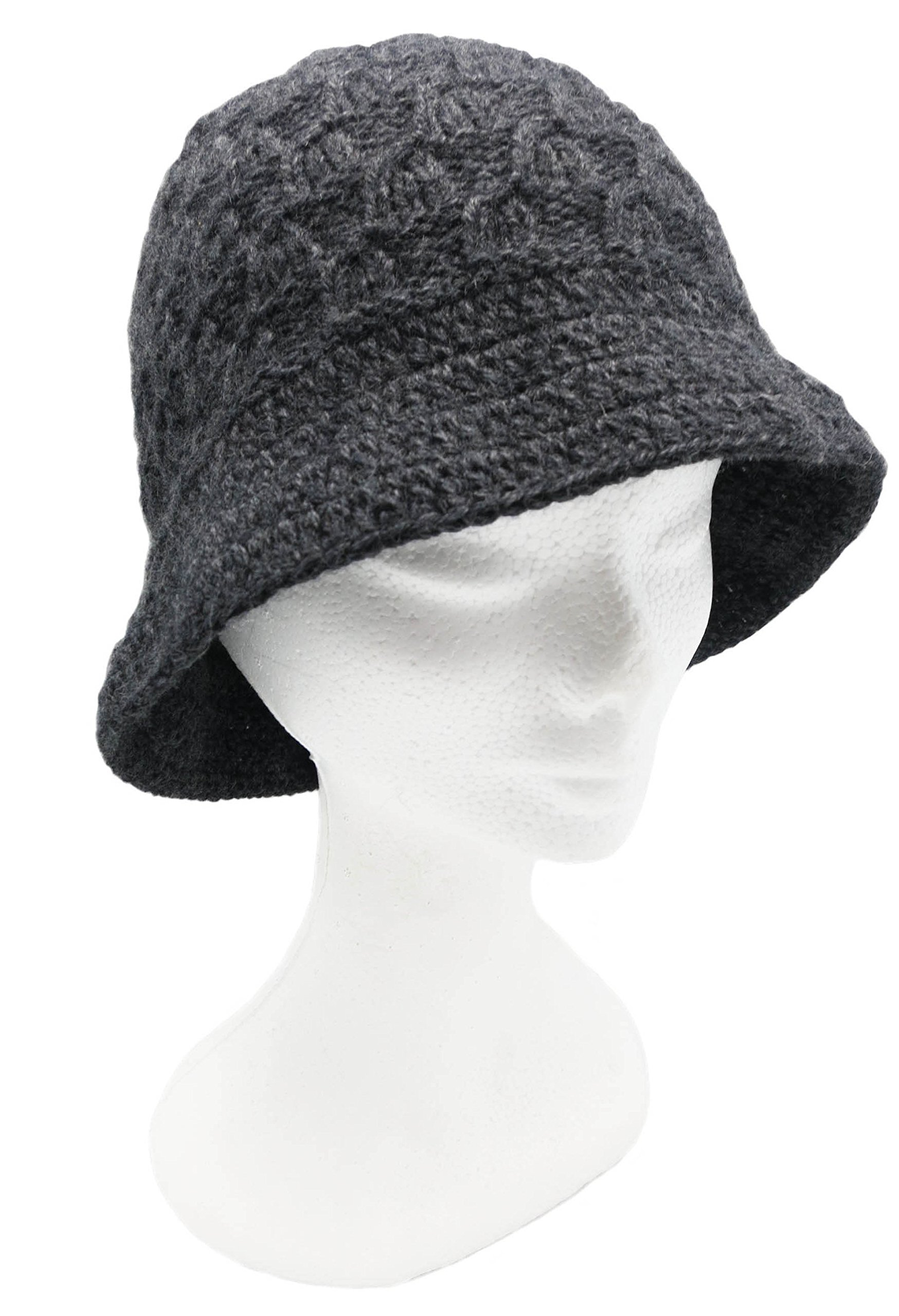 BARBERY Alpaca Accessories Custom Made Order In any Color - Vintage Inspired Knitted Alpaca Hat - Charcoal by BARBERY Alpaca Accessories