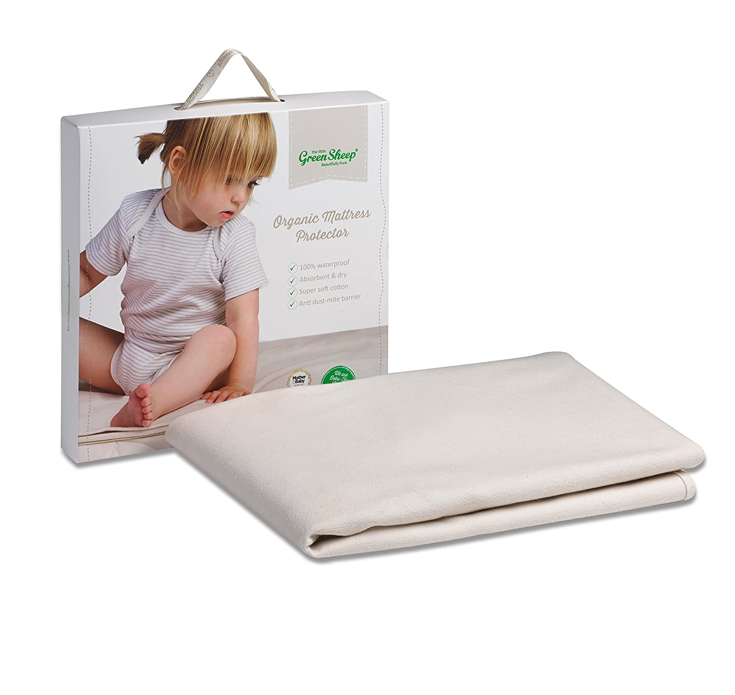 The Little Green Sheep Organic Waterproof Mattress Protector (to fit Stokke Sleepi Cot Bed only) BD001I