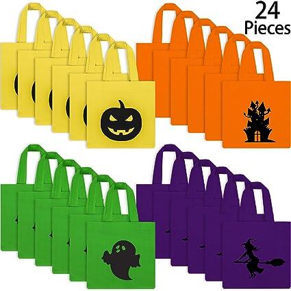 Amazon.com: 24 bolsas de Halloween para truco o golosinas no ...