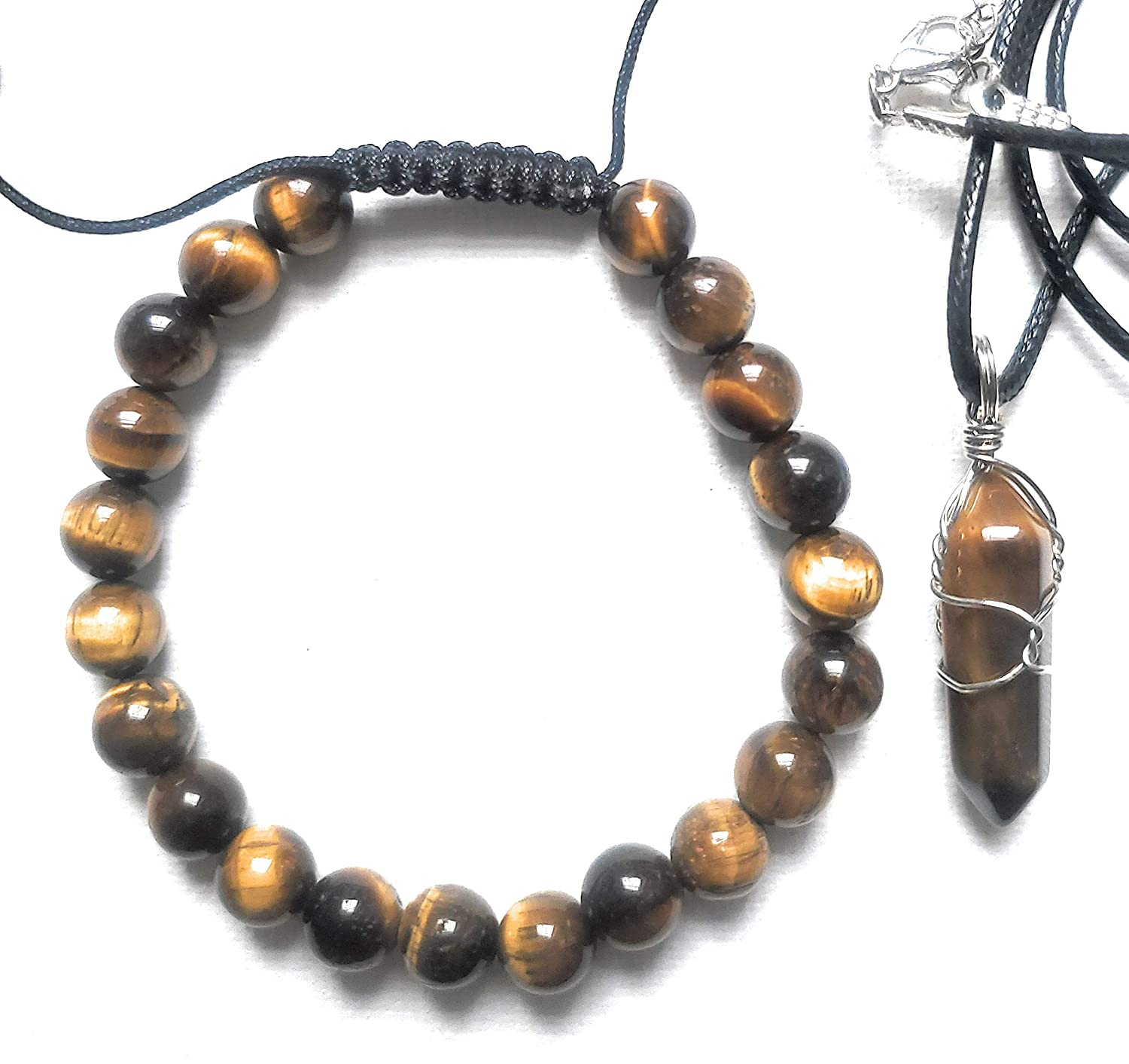 tiger eye necklace unique gifts for boyfriend golden tiger eye anniversary gift for husband unique birthday gift for men fork necklace