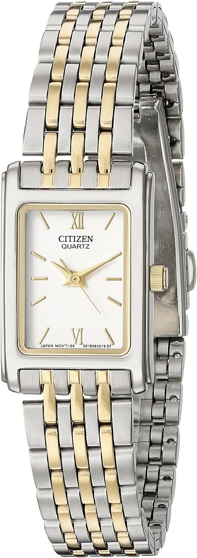 Citizen EJ5854-56A - Reloj analógico de Cuarzo para Mujer, Correa de Acero Inoxidable Multicolor