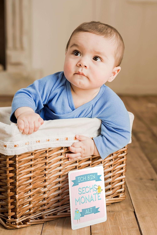 31 Baby Foto Karten f/ür das erste Lebensjahr von DaDaDii I Babygeschenk zur Geburt I F/ür Jungen und M/ädchen