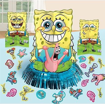 Amazon Com Spongebob Squarepants Fiesta Decoraciones De Mesa Kit