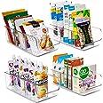YIHONG Food Packet Organizer Bins for Pantry Organization, 4 Pack Plastic Clear Storage Bins for Storing Seasoning Packets, S