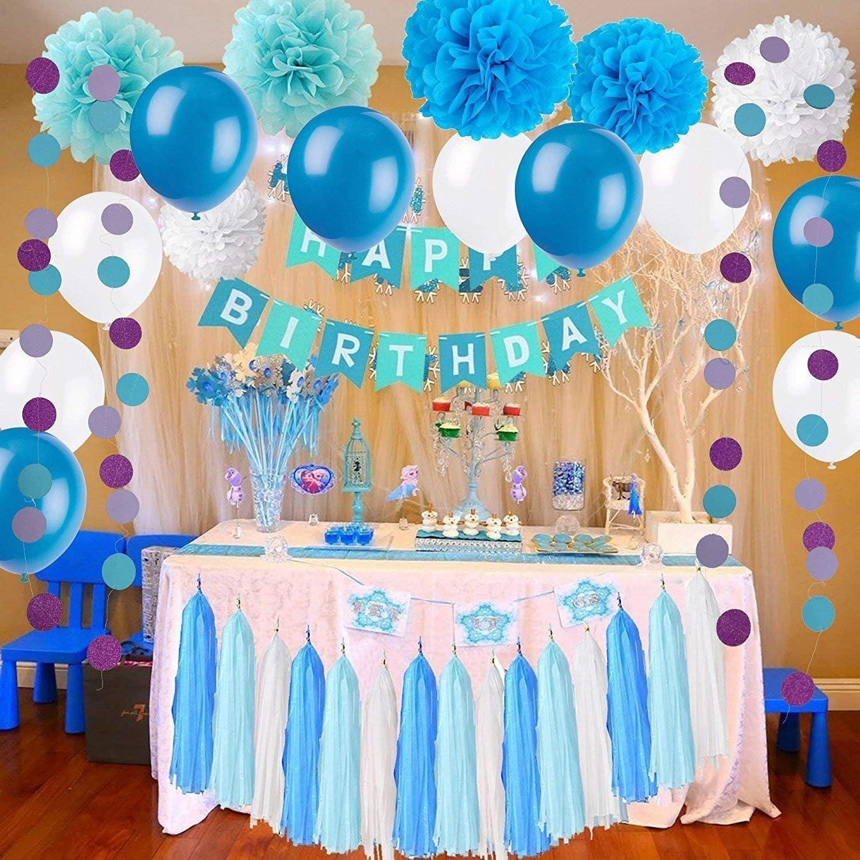 Party Supplies Set Birthday Decoration Set Include Tissue Paper Pom Poms Tassels Garlands Circle Dots Banner For Birthday Party Decorations lifewish