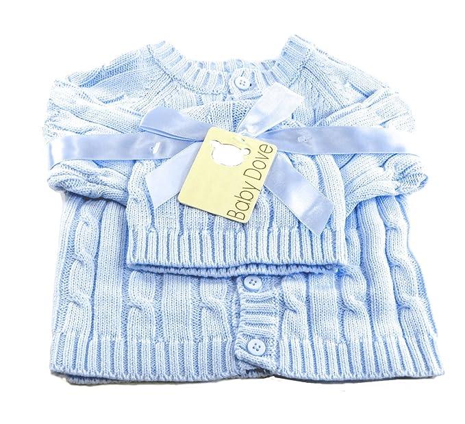 8b1d7ffa2857 Amazon.com: Baby Dove Newborn Cable Knit Cardigan & Beanie Gift Set ...