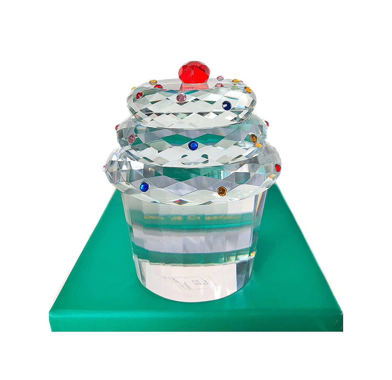 210d24a22ea71 Simon Design Crystal Cup Cake Cherry Paperweight: Amazon.co.uk ...