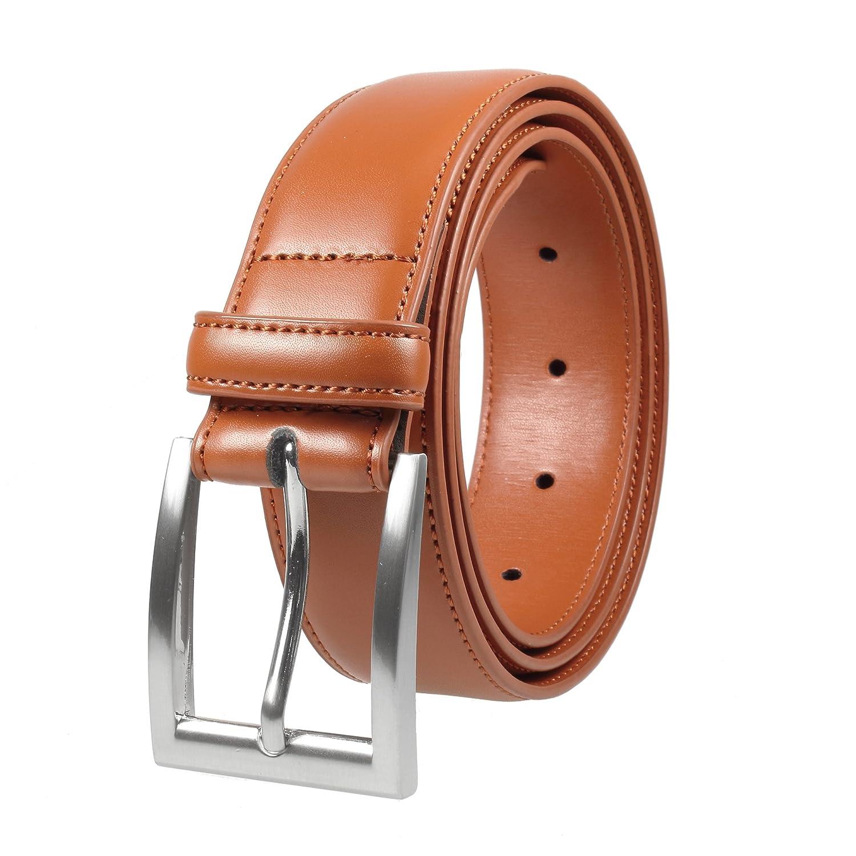 Gelante Men's Classic Dress Leather Belt Black & Brown Color