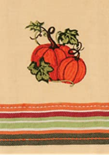 Kay Dee Designs H2538 Harvest Blessings Pumpkin Embroidered Cotton Tea Towel