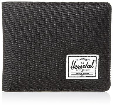 new styles 82e07 43939 Herschel Supply Co. Men s Hank Wallet + Coin, Black, One Size