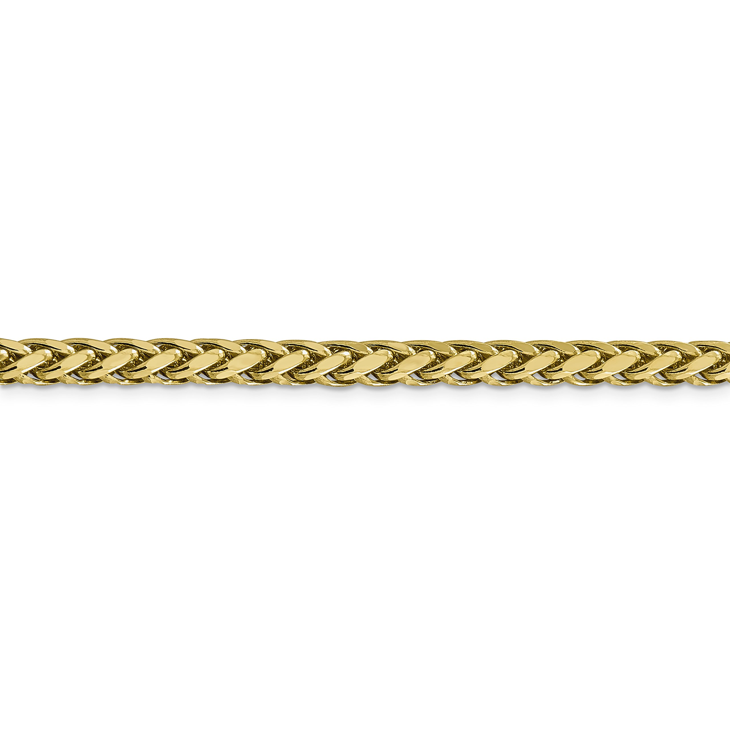 ICE CARATS 14k Yellow Gold 5mm Link Wheat Chain Necklace 18 Inch Spiga Oval Fine Jewelry Gift Set For Women Heart by ICE CARATS (Image #3)
