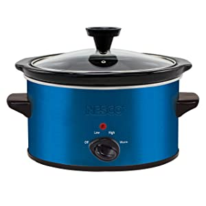 Nesco SC-150B Oval Slow Cooker, 1.5-Quart, Blue