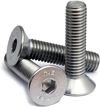 M8-1.25 X 40 Flat Socket Cap Screw A2 Stainless Steel Package Qty 100