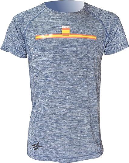 EKEKO SPORT, Camiseta ESPAÑA Modelo TEIDE, Camiseta Manga Corta. Running, Fitness, Crossfit y Deportes en General