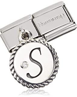 Nomination Tree 925 Silver Charm-Stainless Steel-White Zirconia - 031710/29 FUO58qR