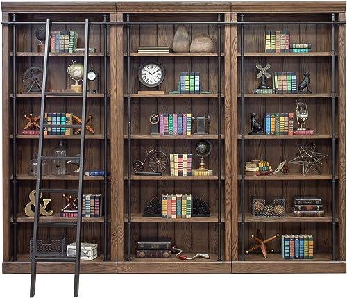 Martin Furniture Avondale 3 Bookcase Wall Oak,