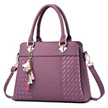 Charmore Womens Handbags Ladies Purses Satchel Shoulder Bags Tote Bag (Purple)