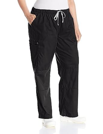 c88174a7d274 WonderWink Women s Wonderwork Plus Size Straight Leg Cargo Scrub Pant
