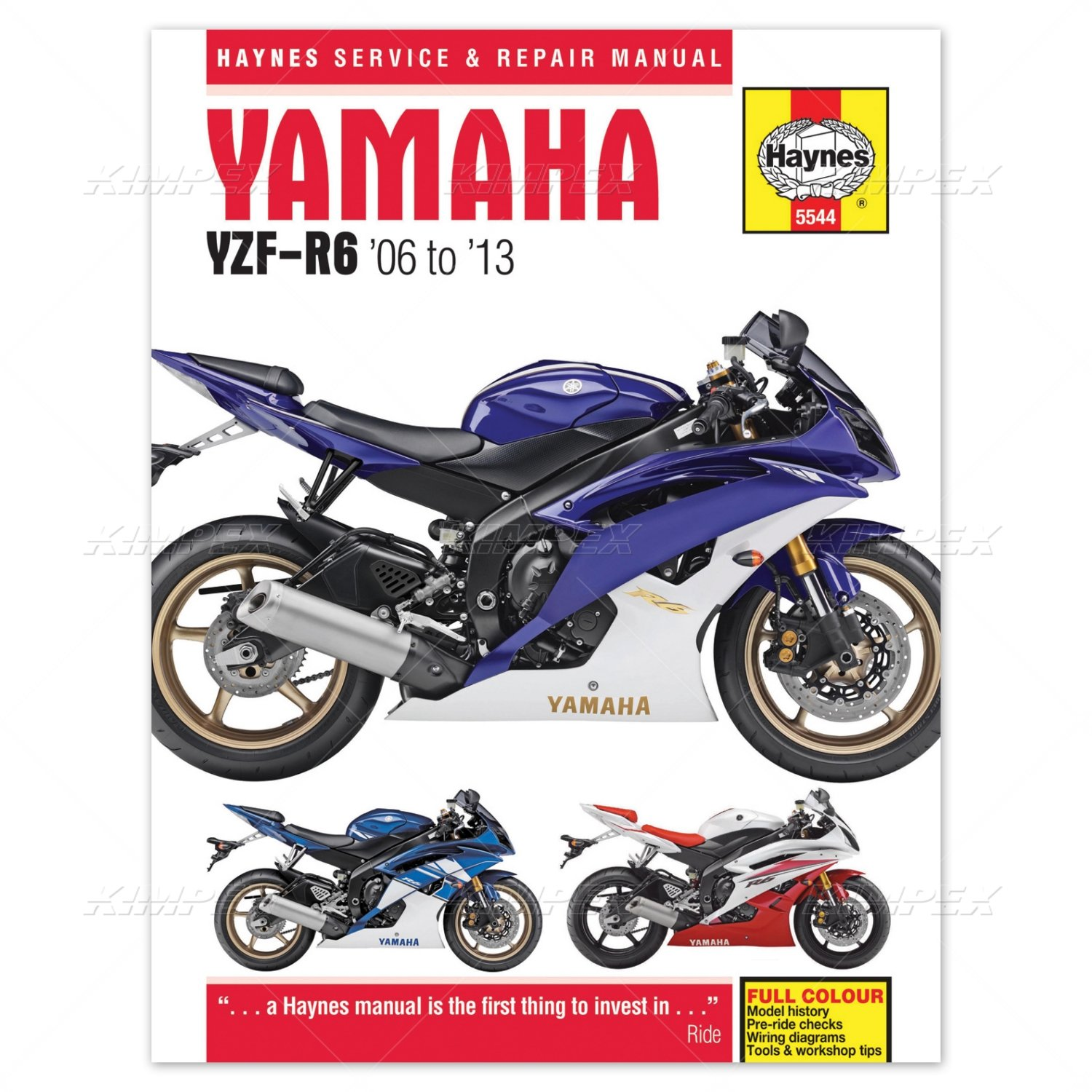 2015 Limited Yamaha Yzf R6 Manual R1 Wiring Diagram 1999 Haynes 2006 2012 Amazon Co Uk Car Motorbike Rh 2013