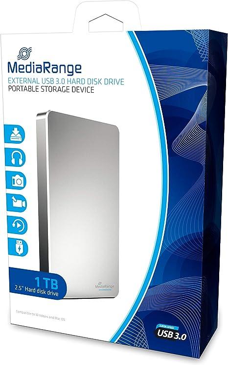 MediaRange MR996 - Disco Duro Externo de 1 TB (USB 3.0, portátil ...