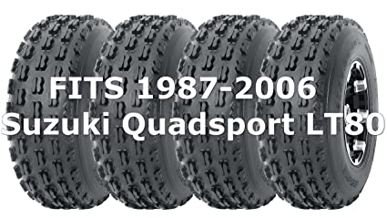 Full Set WANDA Sport ATV tires 19x7-8 19x7x8 fit for 1987-2006 Suzuki  Quadsport LT80