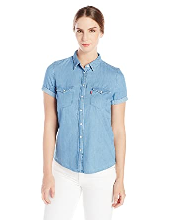 Levi's Women's Short Sleeve Western Shirt at Amazon Women's ...