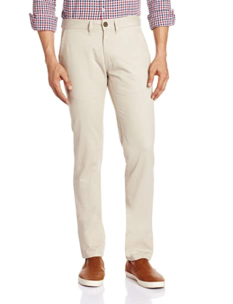 63f75a4d816 Buffalo Men s Slim Fit Chinos (8907403226568 1000436474007 40W x 33L Birch)