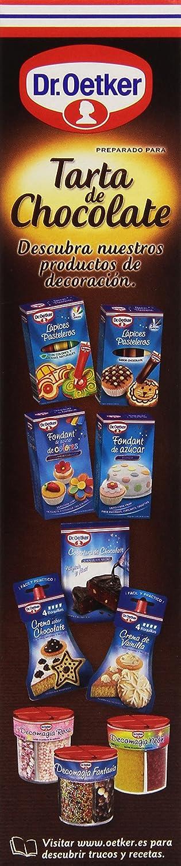 Dr. Oetker - Preparado para Tarta de Chocolate - Estilo Francés - 355 g - 12 raciones: Amazon.es: Alimentación y bebidas