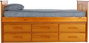 Discovery World Furniture 2135-82193x2 Rake Bed, Twin, Honey