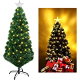 Unomor 4FT Christmas Tree with Multi-Color and Tree Star-Evergreen Pine Tree
