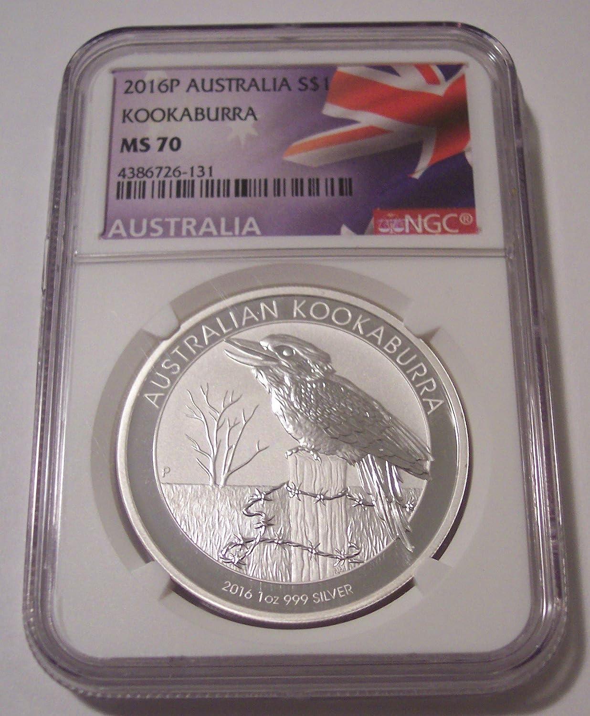2019-P Australia 1oz Silver $1 Koala PCGS MS70 First Strike Flag