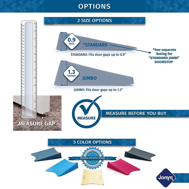 Jamm Jumbo Door Stopper 1 Pack Dusky Blue Premium Non Rubber Non Slip Hardware Door Stop Wedge Holds Doors Open in Both Directions