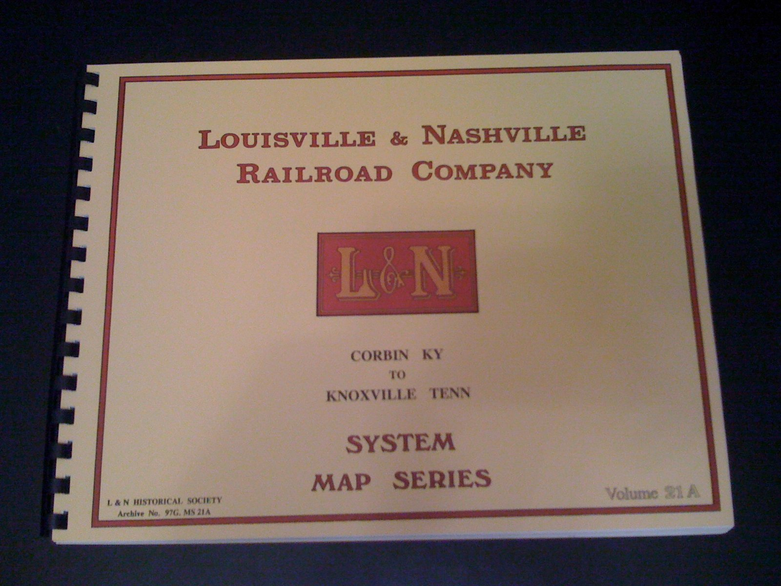Louisville & Nashville Railroad Co. System Maps Corbin KY to ...